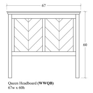 Woodrow Queen Headboard by Amish Crafted by Noah Bontrager