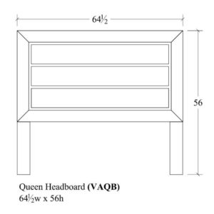 Verona Queen Headboard by Amish Crafted by Noah Bontrager