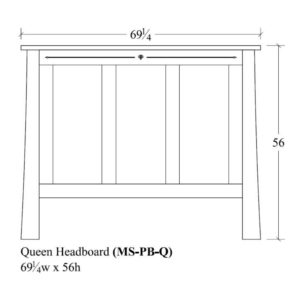 Castlebrook Queen Panel Headboard by Amish Crafted by Noah Bontrager