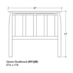 Hayworth Queen Headboard by Amish Crafted by Noah Bontrager