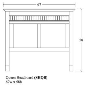 Savannah Queen Headboard by Amish Crafted by Noah Bontrager