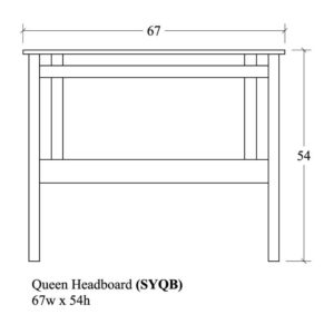 Sydney Queen Headboard by Amish Crafted by Noah Bontrager