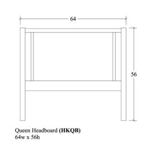 Hyde Park Queen Headboard by Amish Crafted by Noah Bontrager