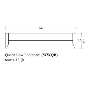 Woodrow Queen Low Footboard by Amish Crafted by Noah Bontrager