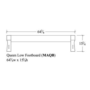 Mayberry Queen Low Footboard by Amish Crafted by Noah Bontrager