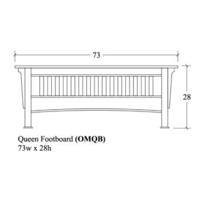 Old Mission Queen Slat Footboard by Amish Crafted by Noah Bontrager