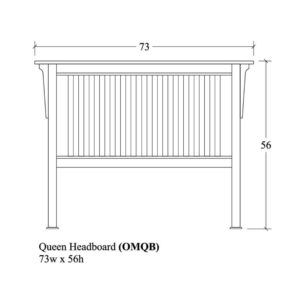 Old Mission Queen Slat Headboard by Amish Crafted by Noah Bontrager