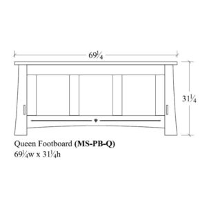 Castlebrook Queen Panel Footboard by Amish Crafted by Noah Bontrager