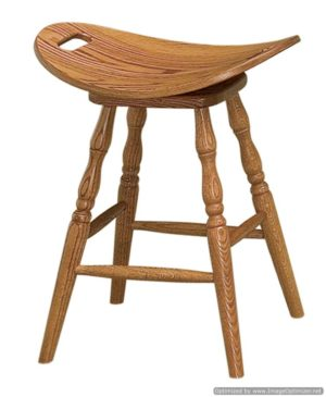 Saddle Swivel Stool by Amish Crafted by Noah Bontrager