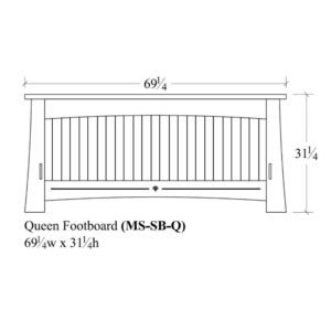 Castlebrook Queen Slat Footboard by Amish Crafted by Noah Bontrager
