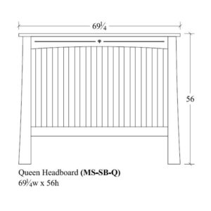 Castlebrook Queen Slat Headboard by Amish Crafted by Noah Bontrager