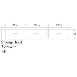 Victor 3 Drawer Storage Rail by Amish Crafted by Noah Bontrager