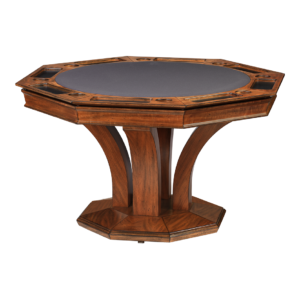 Treviso Octagonal Poker Dining Table w/ Bumper Pool by Darafeev