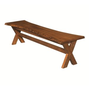 Xander Live Edge Bench by Amish Crafted by Noah Bontrager