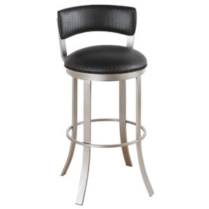Bailey Swivel Barstool (Upholstered Back) by Callee