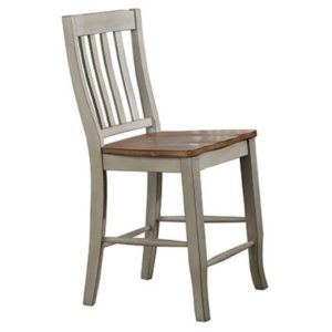 Barnwell 24″ Rake Back Stool (Rustic Brown 2 / Gray 2) by Winners Only