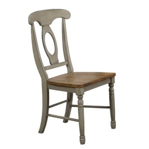 Barnwell Napoleon Side Chair (Rustic Brown 2 / Gray 2) by Winners Only
