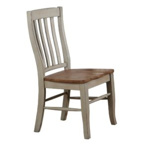Barnwell Rake Back Side Chair (Rustic Brown 2 / Gray 2) by Winners Only