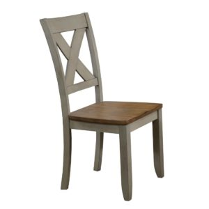 Barnwell X Back Side Chair (Rustic Brown 2 / Gray 2) by Winners Only