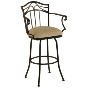 Berkeley Swivel Barstool w/ Arms by Callee