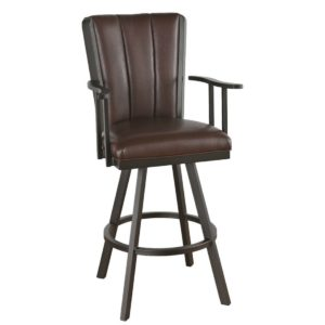Bogart Flex Back Swivel Barstool w/ Arms by Callee