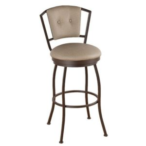 Bristol Swivel Barstool (Upholstered Back) by Callee
