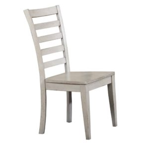 Carmel Ladder Back Side Chair (Gray) by Winners Only
