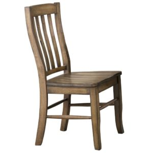 Carmel Rake Back Side Chair (Rustic Brown) by Winners Only
