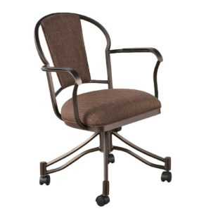 Charleston Swivel/Tilt Dining Chair (Upholstered Back) by Callee