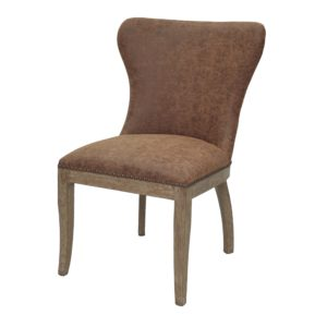 Darcey Side Chair (Chocolate) by New Pacific Direct