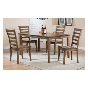 Carmel 5-Piece Dining Set (Rustic Brown) by Winners Only
