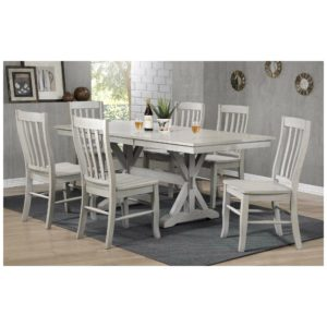 Carmel 7-Piece Dining Set (Gray) by Winners Only