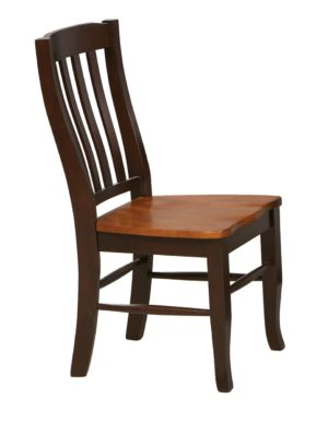 Santa Fe Rake Back Side Chair (Chestnut/Espresso) by Winners Only