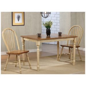 Farmington 3-Piece Dining Set (Almond/Wheat) by Winners Only