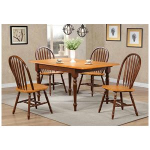Farmington 5-Piece Dining Set (Fruitwood) by Winners Only
