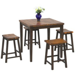 Fifth Avenue 5-Piece Tall Dining Set (Acacia) by Winners Only