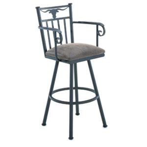 Longhorn Swivel Barstool w/ Arms by Callee