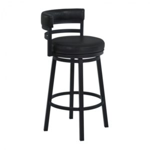 Madrid Swivel Barstool (Black) by Lee Jay