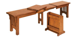 Mission Expandable Bench by Amish Crafted by Noah Bontrager