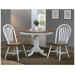 Pacifica 3-Piece Dining Set (Rustic Brown/White) by Winners Only