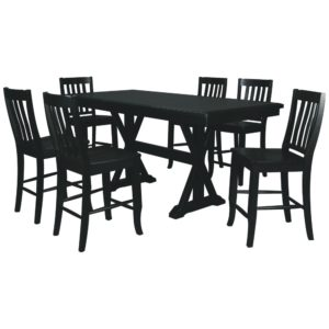 Quails Run 7-Piece Tall Dining Set (Ebony) by Winners Only