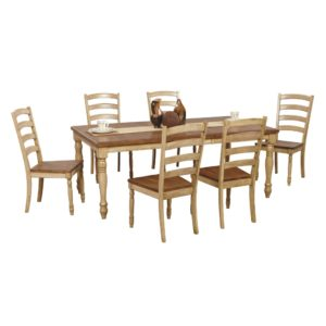 Quails Run 7-Piece Dining Set (Almond/Wheat) by Winners Only