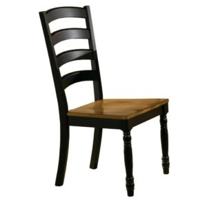 Quails Run Ladder-back Side Chair (Almond/Ebony) by Winners Only