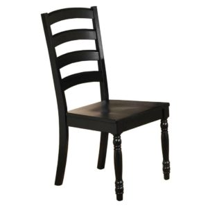Quails Run Ladder-back Side Chair (Ebony) by Winners Only