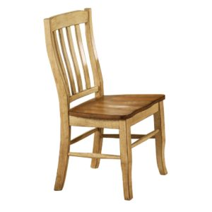 Quails Run Rake Back Side Chair (Almond/Wheat) by Winners Only