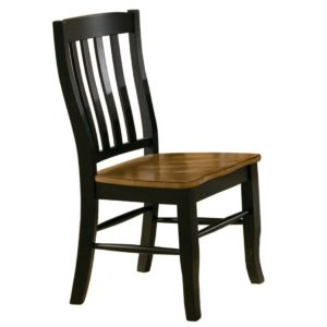 Quails Run Rake Back Side Chair (Almond/Ebony) by Winners Only