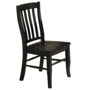 Quails Run Rake Back Side Chair (Ebony) by Winners Only