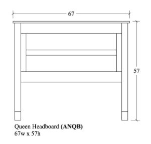 Adrian Queen Headboard by Amish Crafted by Noah Bontrager