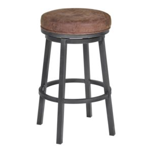 Tilden Swivel Barstool (Bandero Tobacco) by Lee Jay
