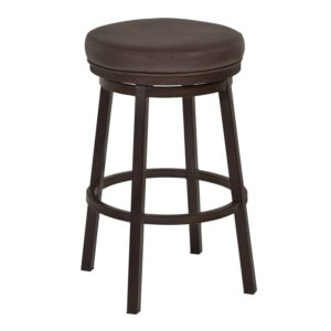 Tilden Swivel Barstool (Ford Brown) by Lee Jay